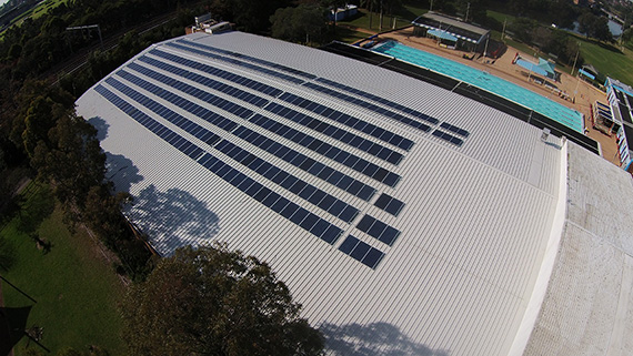 Canterbury ice rink commercial project - Natural Solar